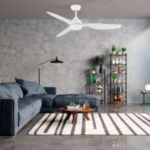 Ventilador de techo EDHEA en salón