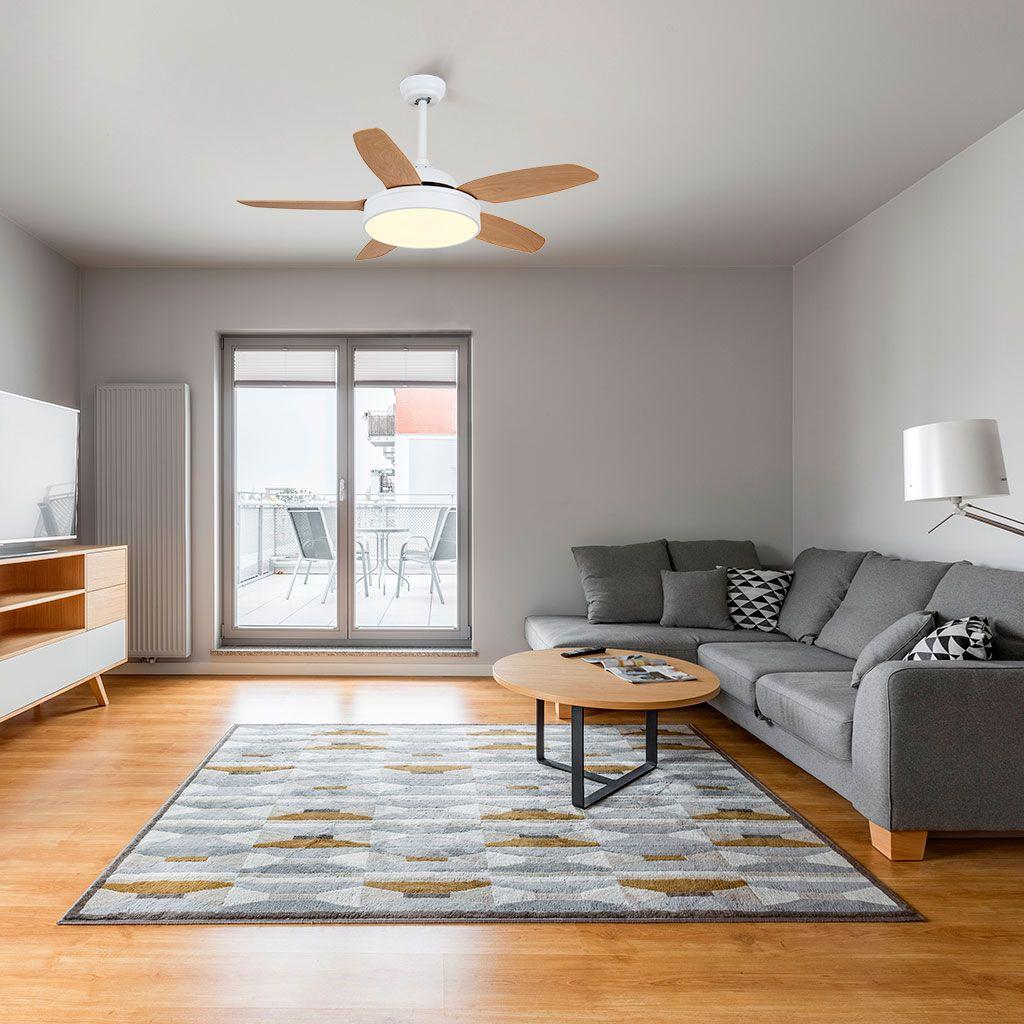 MYKONOS, ventilador de techo en salón