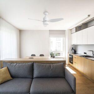 Ventilador de techo ESTORIL mantiene la temperatura agradable del comedor