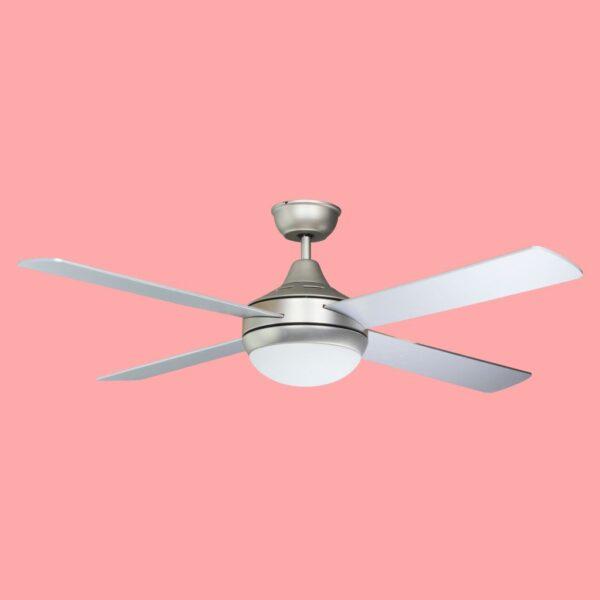 Ventilador de techo BORA con tres temperaturas de color y varias velocidades. Incluye mando a distancia.