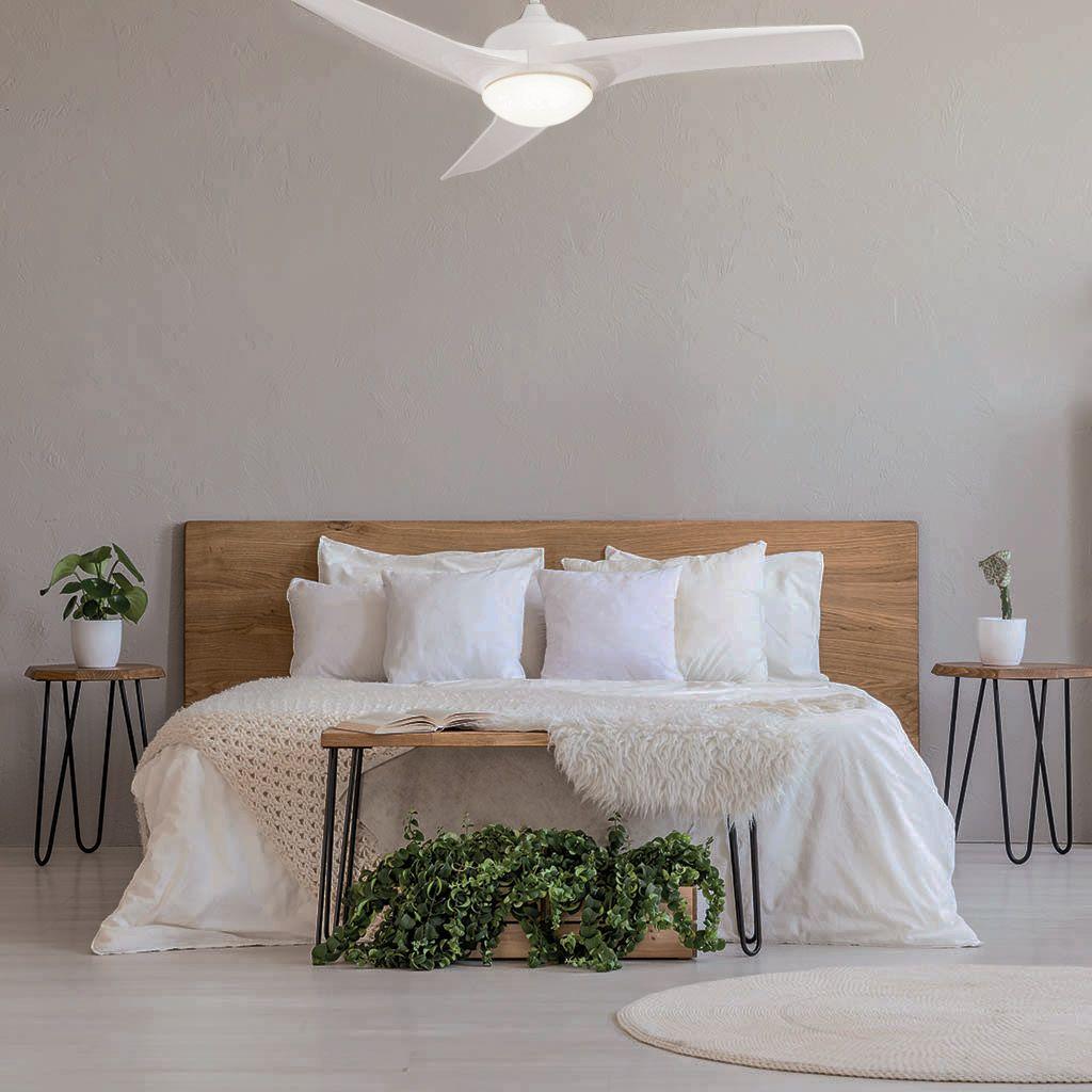 Ventilador CASCAIS en dormitorio