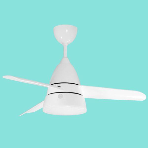 Ventilador de techo DENVER incorpora altavoz bluetooth y mando a distancia programable con 6 velocidades de giro y 3 temperaturas de color