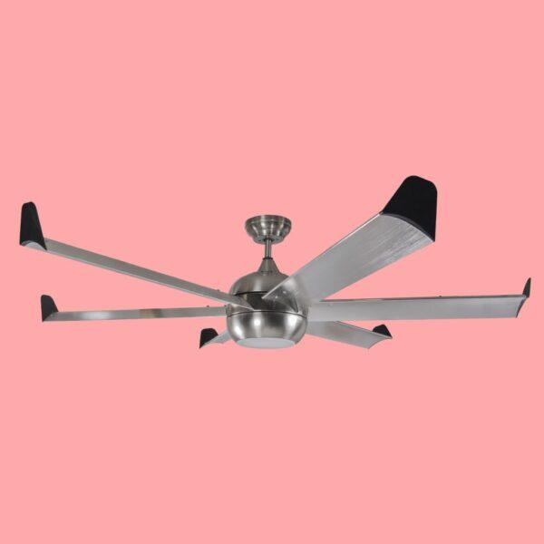 Ventilador de techo IPANEMA con motor DC de varias velocidades y luz LED con 3 temperaturas de color. Incluye mando a distancia