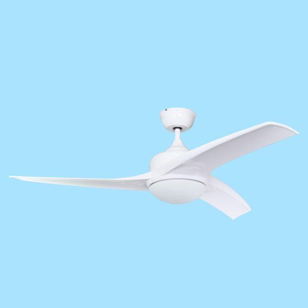 Ventilador de techo TAVIRA con 3 temperaturas de color y varias velocidades programables mediante mando a distancia.