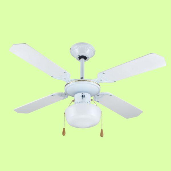 Ventilador de techo HAWAII con luz y motor AC de 3 velocidades