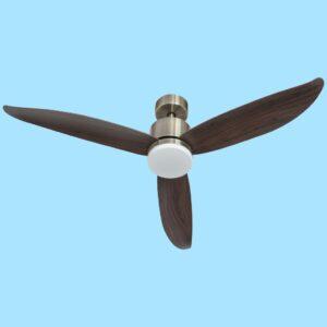 Ventilador de techo CIES de fácil fijación. Con motor DC y luz LED con 3 temperaturas de color.