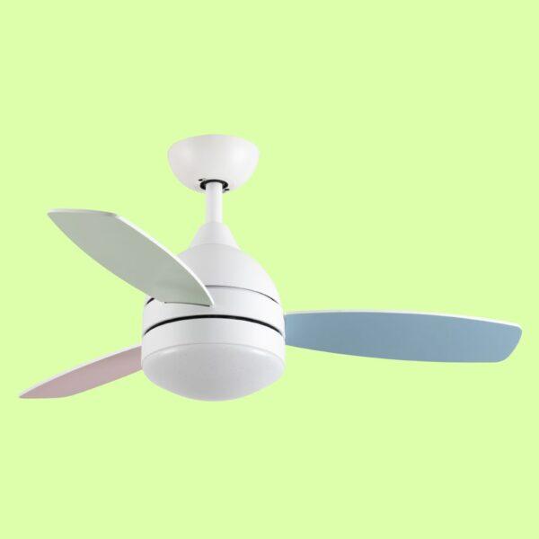 ventilador EDEN programable, con luz LED y 3 velocidades de giro
