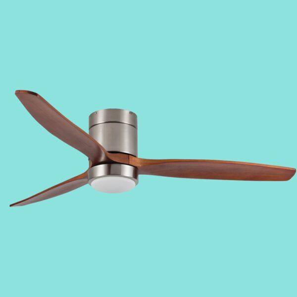 Ventilador de techo MANILA de fácil instalación. Incluye motor DC de 5 velocidades y luz LED.
