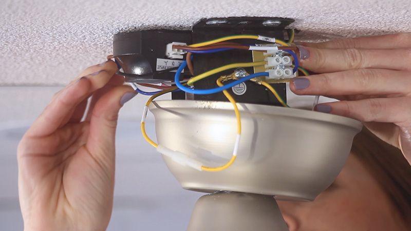 Pasos para instalar tu ventilador de techo BORA - Conexiones eléctricas