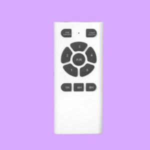 Ventilador de techo MYKONOS cuenta con funciones programables mediante mando a distancia.