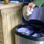 Cubos de basura con apertura atomática