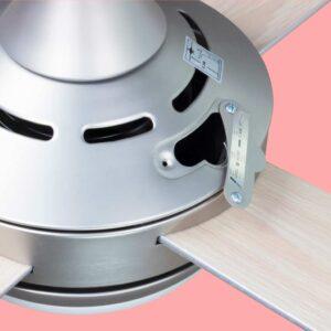 Ventilador de techo BORA con motor DC y varias velocidades regulables a través de mando a distanciamando a distancia.