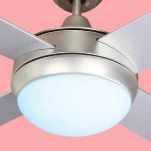Ventilador de techo BORA con tres temperaturas de color, luz fría..