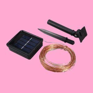 Guirnalda solar METIS panel y aplique
