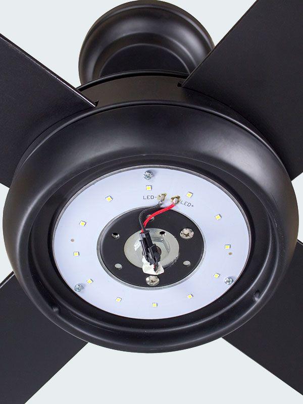 Ventiladores con <strong>LUZ LED INTEGRADA</strong>