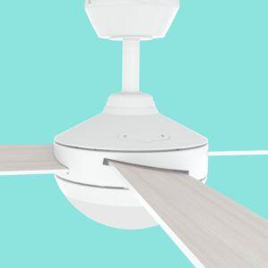 Ventilador de techo AVEIRO aspas de madera detalle lateral