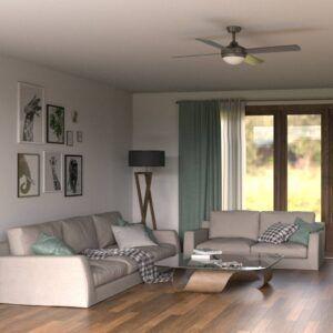 Ventilador de techo BORA PRO gris ambiente