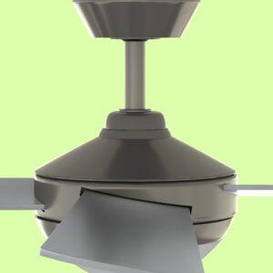 Ventilador de techo BORA PRO aspas gris detalle