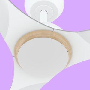 Ventilador de techo CRETA detalle inferior luz