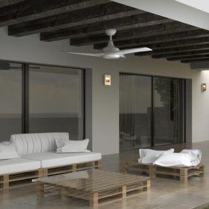 Ambiente ventilador de techo TAVIRA PRO IP 44 detalle inferior