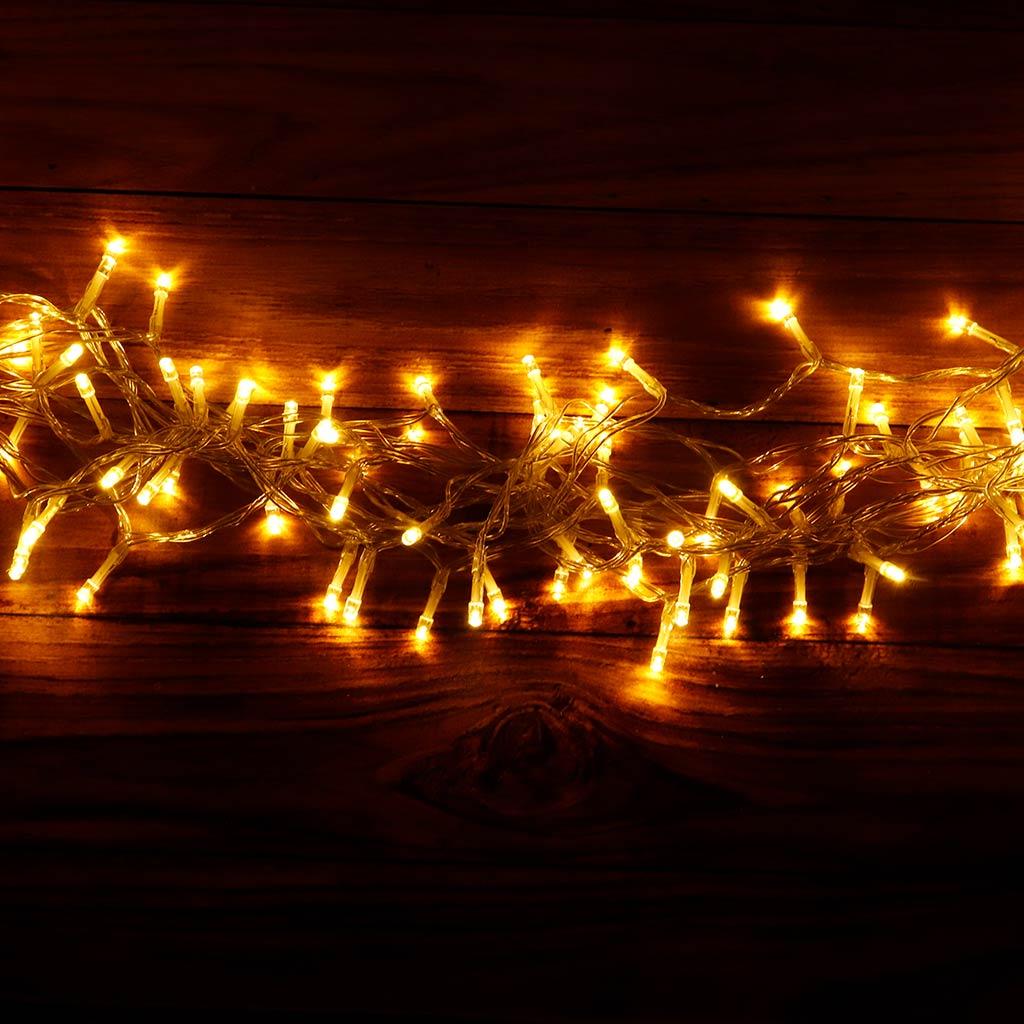 Guirnalda LIRA en forma curva iluminada