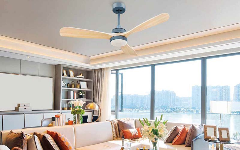 How important are the blades when choosing a ceiling fan?
