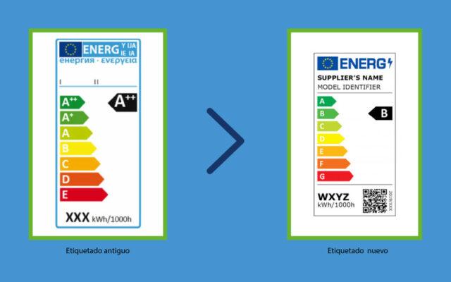 Tarjeta energética nueva y antigua